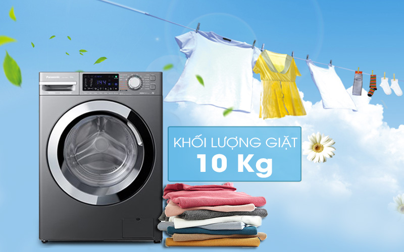 Máy giặt Panasonic Inverter 10 Kg NA-V10FX1LVT-Khối lượng giặt 10 kg, phù hợp cho gia đình trên 6 người