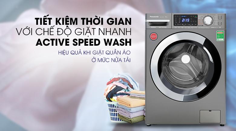 Máy giặt Panasonic Inverter 10 Kg NA-V10FX1LVT - Actvie speed wash