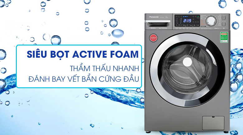 Máy giặt Panasonic Inverter 10 Kg NA-V10FX1LVT - Active Foam