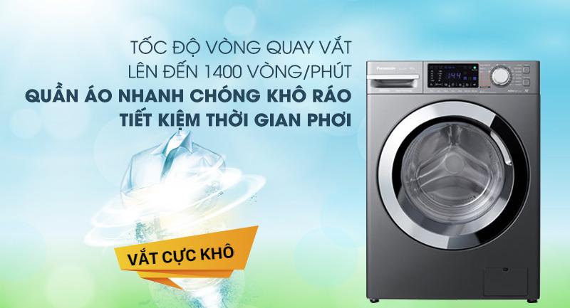 Máy giặt Panasonic Inverter 10 Kg NA-V10FX1LVT-Tiết kiệm thời gian phơi quần áo nhờ chức năng vắt cực khô