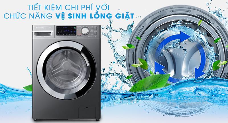 Máy giặt Panasonic Inverter 10 Kg NA-V10FX1LVT-Tiết kiệm chi phí nhờ tính năng tự vệ sinh lồng giặt