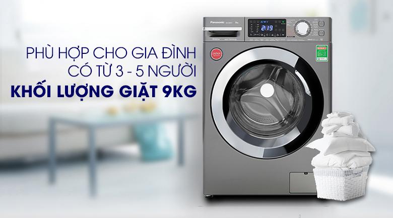 Máy giặt Panasonic Inverter 9 Kg NA-V90FX1LVT - Khối lượng