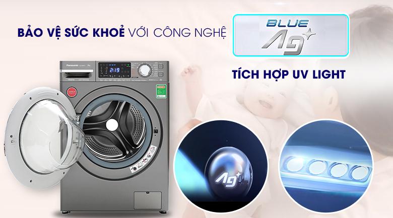 Máy giặt Panasonic Inverter 9 Kg NA-V90FX1LVT - UV Blue Ag+