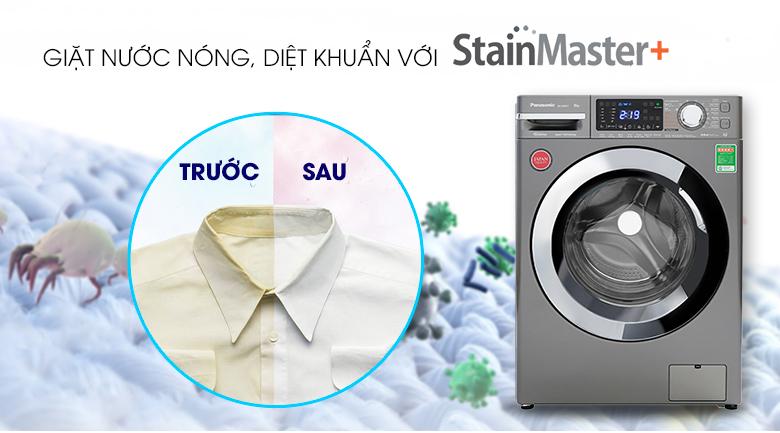 Máy giặt Panasonic Inverter 9 Kg NA-V90FX1LVT - Giặt nước nóng