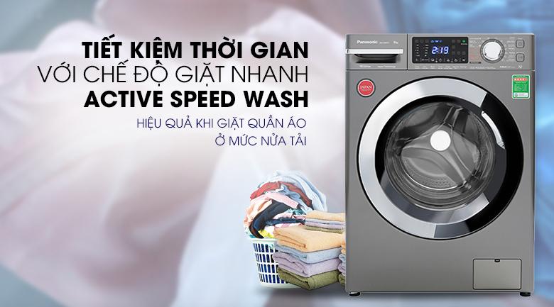 Máy giặt Panasonic Inverter 9 Kg NA-V90FX1LVT - Giặt nhanh