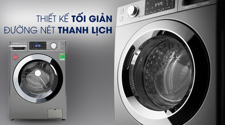 Máy giặt Panasonic Inverter 9 Kg NA-V90FX1LVT - Thiết kế