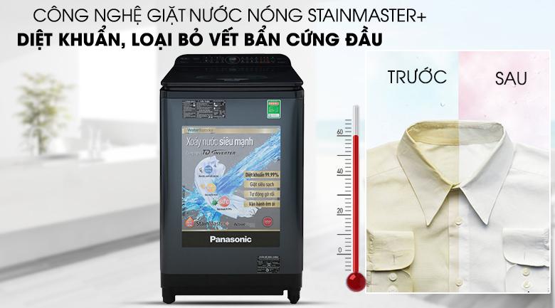 Máy giặt Panasonic Inverter 12.5 Kg NA-FD12VR1BV - Diệt khuẩn, đánh bay vết bẩn cứng đầu với công nghệ giặt nóng StainMaster+