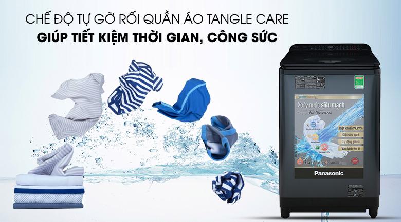 Giảm tình trạng xoắn rối quần áo bởi chức năng Tangle Care - Máy giặt Panasonic NA-FD12VR1BV