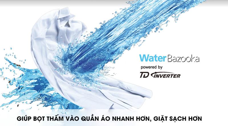 Máy giặt Panasonic Inverter 12.5 Kg NA-FD12VR1BV-Xoáy nước mạnh mẽ cùng Water Bazooka