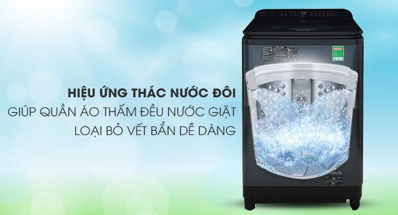 Máy giặt Panasonic Inverter 12.5 Kg NA-FD12VR1BV-Luồng nước mạnh bởi hiệu ứng thác nước đôi Dual Power Cascade