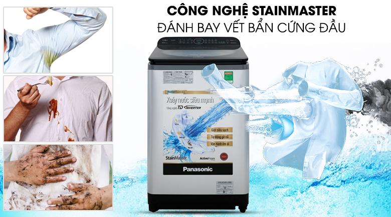 Máy giặt Panasonic Inverter 11.5 Kg NA-FD11XR1LV - Loại bỏ nhanh vết bẩn cứng đầu với công nghệ StainMaster