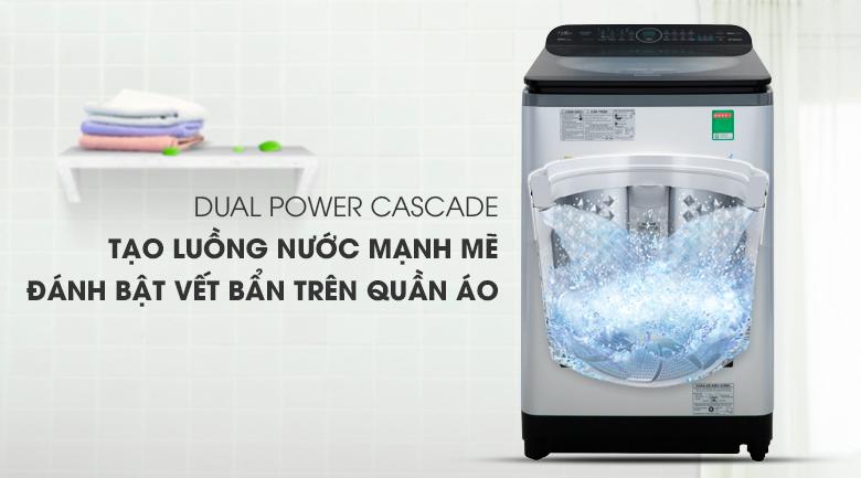 Máy giặt Panasonic Inverter 11.5 Kg NA-FD11XR1LV - Tạo luồng nước mạnh mẽ nhờ Dual Power Cascade