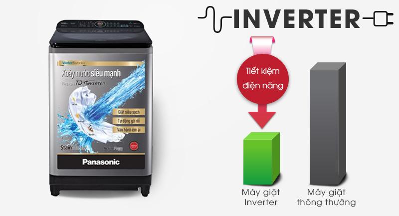 Máy giặt Panasonic Inverter 11.5 Kg NA-FD11XR1LV - Sử dụng điện hiệu quả với công nghệ biến tần Inverter