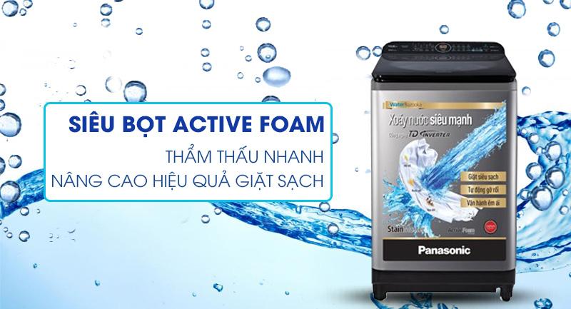 Máy giặt Panasonic Inverter 11.5 Kg NA-FD11XR1LV - Nâng cao hiệu quả giặt sạch nhờ siêu bọt khí Active Foam