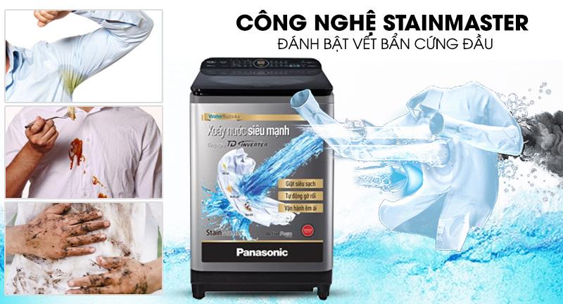 Máy giặt Panasonic Inverter 12.5 Kg NA-FD12XR1LV - Đánh bật vết bẩn cứng đầu công nghệ StainMaster