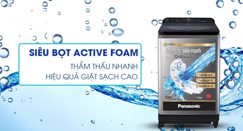 Máy giặt Panasonic Inverter 12.5 Kg NA-FD12XR1LV - Hiệu quả giặt sạch với siêu bọt khí Active Foam