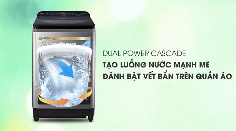 Máy giặt Panasonic Inverter 12.5 Kg NA-FD12XR1LV - Luồng nước mạnh mẽ với Dual Power Cascade