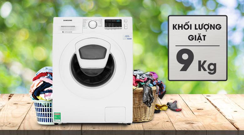 Máy giặt Samsung Addwash Inverter 9 Kg WW90K44G0YW/SV - Khối lượng 9kg