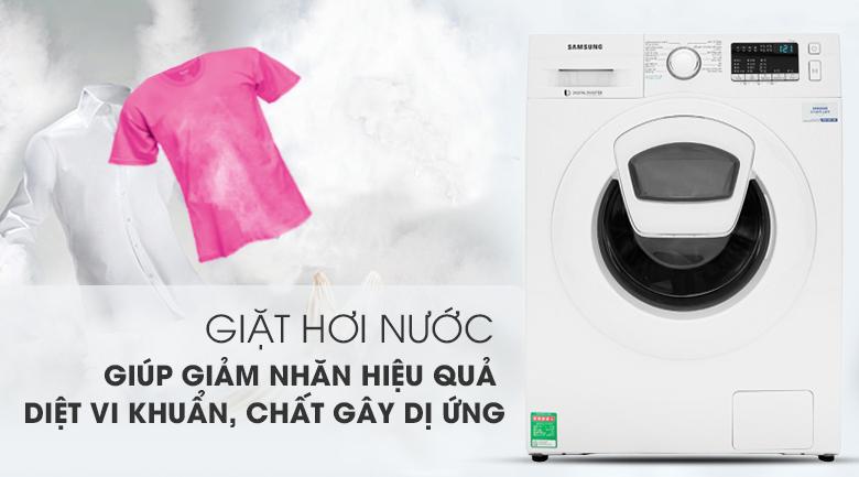 Giặt hơi nước - Máy giặt Samsung Addwash Inverter 9 Kg WW90K44G0YW/SV