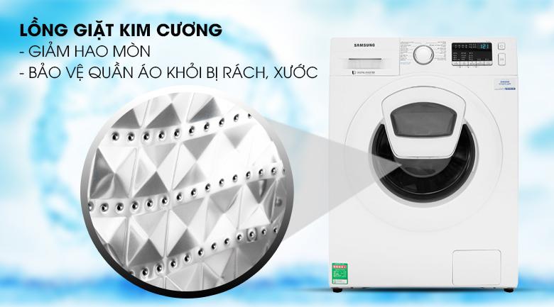 Lồng giặt kim cương - Máy giặt Samsung Addwash Inverter 9 Kg WW90K44G0YW/SV