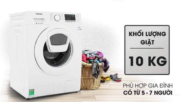 Máy giặt Samsung Addwash Inverter 10 Kg WW10K44G0YW/SV