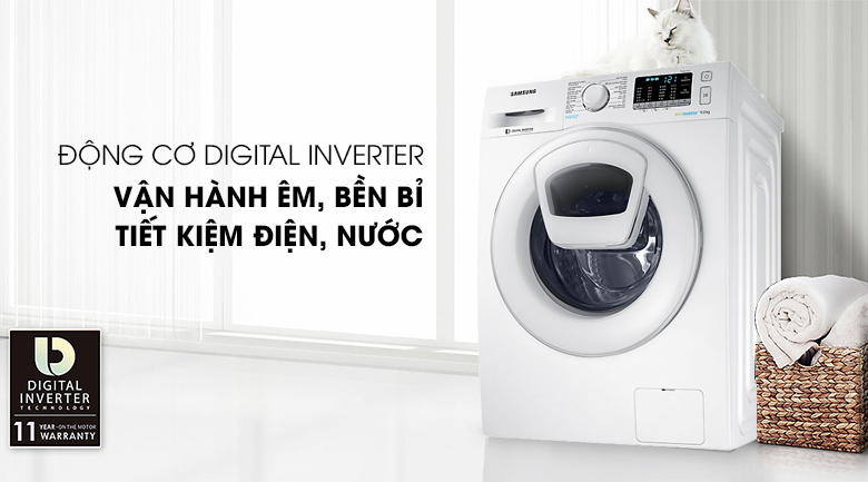 Công nghệ Inverter - Máy giặt Samsung Addwash Inverter 10 Kg WW10K44G0YW/SV