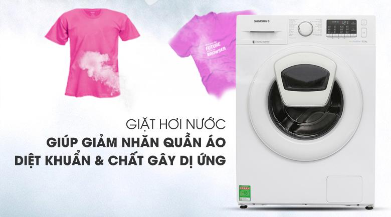 Giặt hơi nước - Máy giặt Samsung Addwash Inverter 10 Kg WW10K44G0YW/SV