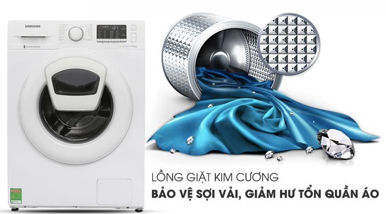 Lồng giặt kim cương - Máy giặt Samsung Addwash Inverter 10 Kg WW10K44G0YW/SV