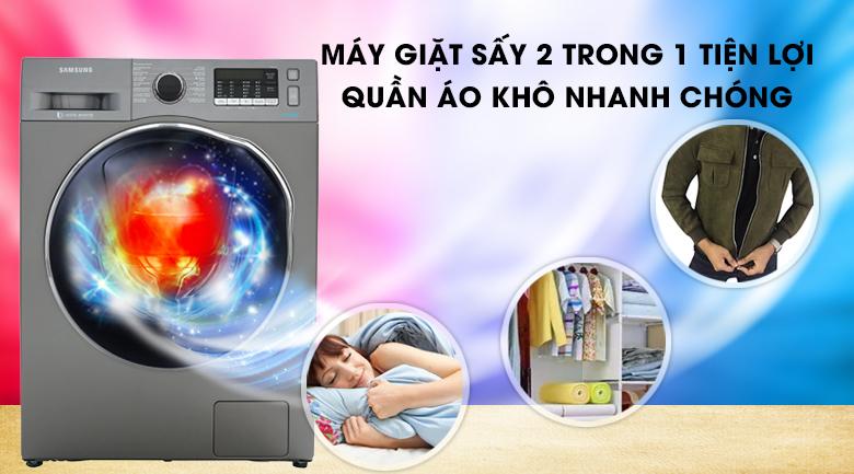 Máy giặt sấy Samsung AddWash Inverter 9.5 kg WD95K5410OX/SV-Rút ngắn thời gian phơi đồ nhờ chức năng sấy