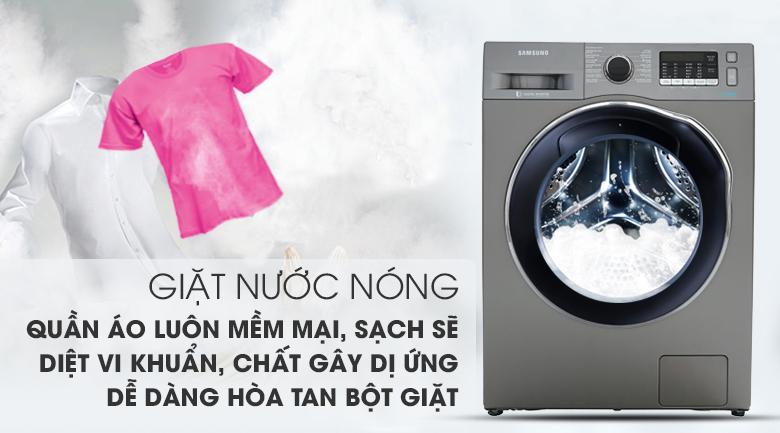 Máy giặt sấy Samsung AddWash Inverter 9.5 kg WD95K5410OX/SV-Diệt khuẩn tối ưu với chế độ giặt nước nóng