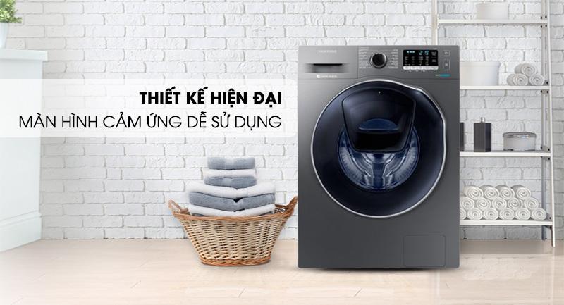 Máy giặt sấy Samsung AddWash Inverter 9.5 kg WD95K5410OX/SV-Thiết kế hiện đại, màn hình cảm ứng dễ sử dụng