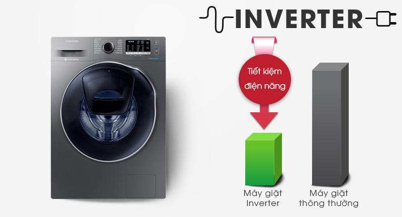Máy giặt sấy Samsung AddWash Inverter 9.5 kg WD95K5410OX/SV-Tiết kiệm điện nhờ công nghệ biến tần Inverter