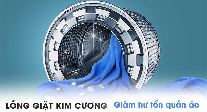 Máy giặt sấy Samsung AddWash Inverter 9.5 kg WD95K5410OX/SV-Giảm mức độ hư hỏng quần áo với lồng giặt thiết kế kim cương