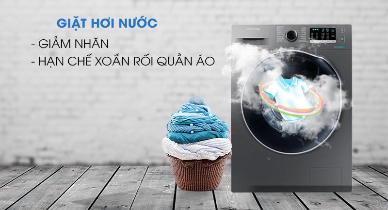 Máy giặt sấy Samsung AddWash Inverter 9.5 kg WD95K5410OX/SV-Giảm nhăn quần áo, hạn chế xoắn rối cùng giặt hơi nước