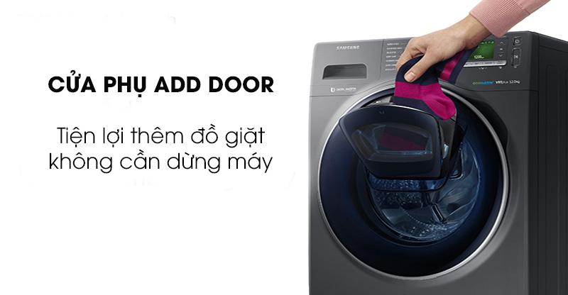 Máy giặt sấy Samsung AddWash Inverter 9.5 kg WD95K5410OX/SV-Tiện lợi khi thêm đồ giặt với cửa phụ Add Door