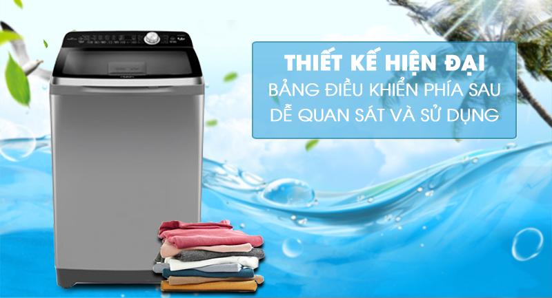 Máy giặt Aqua Inverter 12 Kg AQW-DR120CT S-Thiết kế hiện đại, bảng điều khiển phía sau dễ quan sát