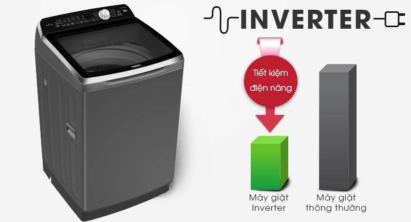 Máy giặt Aqua Inverter 12 Kg AQW-DR120CT S-Tiết kiệm điện nhờ công nghệ Inverter