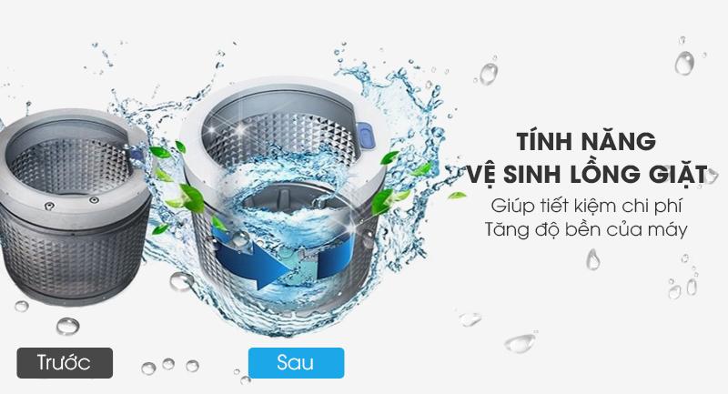 Máy giặt Aqua Inverter 12 Kg AQW-DR120CT S-Tiết kiệm chi phí với tính năng vệ sinh lồng giặt