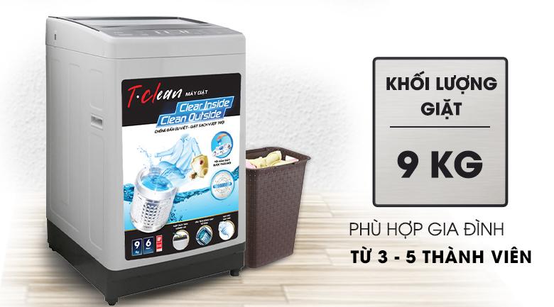 Máy giặt TCL 9 Kg TWA90-B302GM đáp ứng nhu cầu dùng của 3 - 5 người