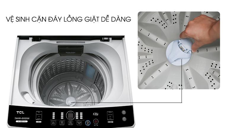 Mâm giặt này là có thể dễ dàng mở ra để vệ sinh cặn bẩn - Máy giặt TCL 9 Kg TWA90-B302GM