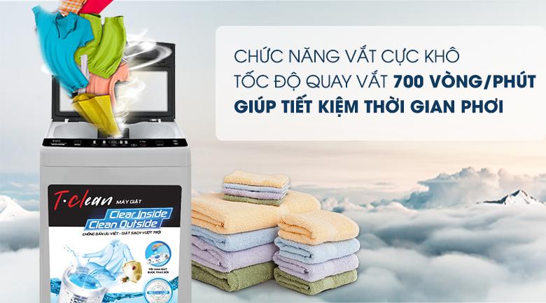 Chức năng vắt cực khô - Máy giặt TCL 9 Kg TWA90-B302GM