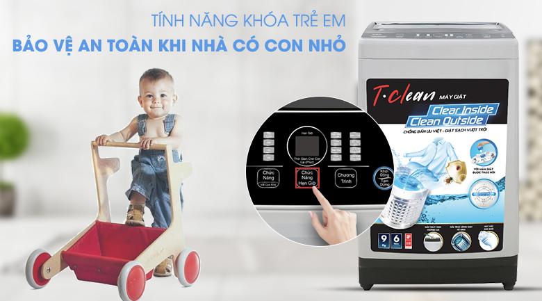 Tính năng khóa trẻ em - Máy giặt TCL 9 Kg TWA90-B302GM