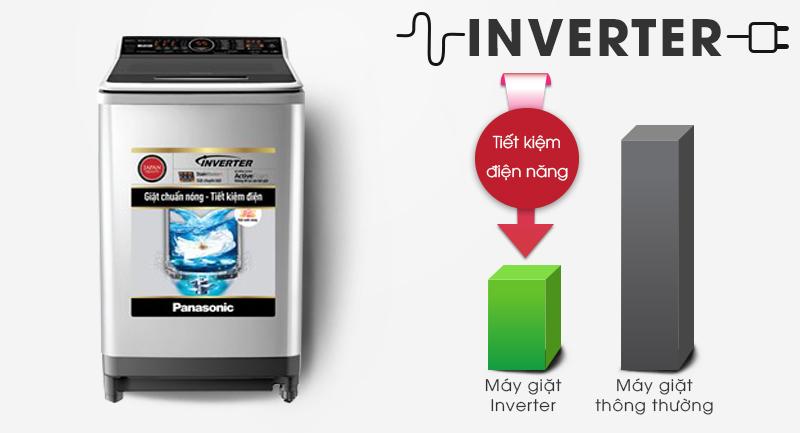 Máy giặt Panasonic Inverter 16 Kg NA-FS16V7SRV-Tiết kiệm điện với công nghệ biến tần Inverter