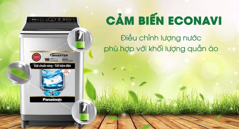 Máy giặt Panasonic Inverter 16 Kg NA-FS16V7SRV-Sử dụng nước hiệu quả với công nghệ cảm biến sinh thái Econavi