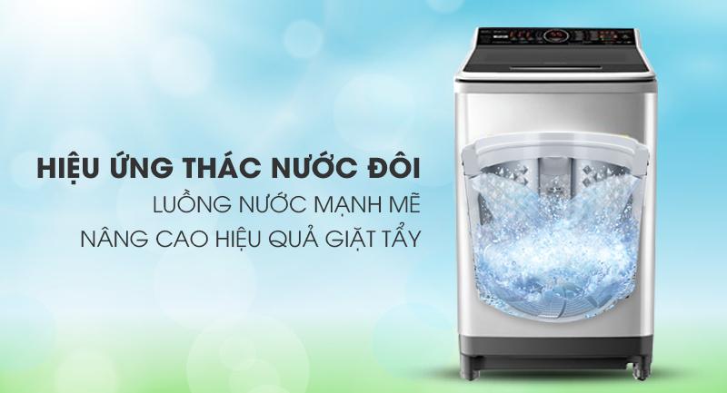Máy giặt Panasonic Inverter 16 Kg NA-FS16V7SRV-Luồng nước mạnh mẽ nhờ hiệu ứng thác nước đôi