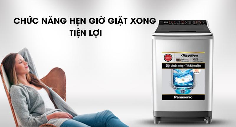 Máy giặt Panasonic Inverter 16 Kg NA-FS16V7SRV-Tiện lợi nhờ chức năng hẹn giờ giặt xong