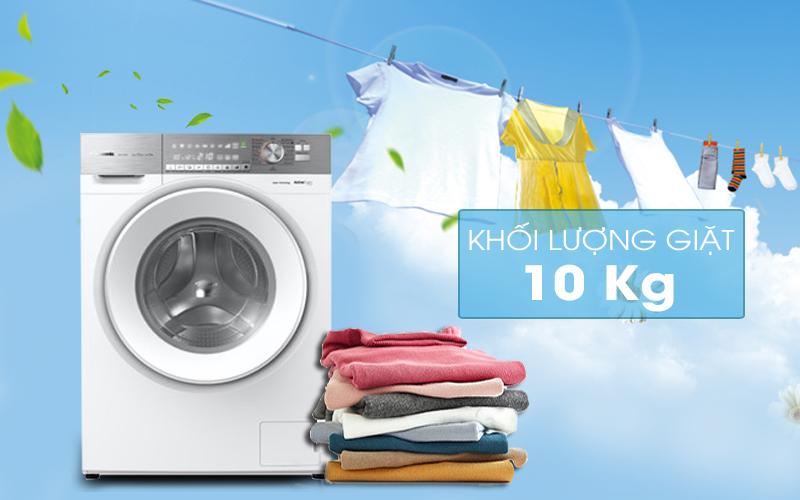 Máy giặt Panasonic Inverter 10 Kg NA-S106G1WV2-Khối lượng 10 kg, phù hợp gia đình trên 6 người