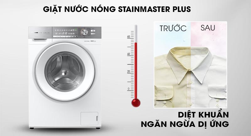 Máy giặt Panasonic Inverter 10 Kg NA-S106G1WV2-Diệt khuẩn, ngăn ngừa dị ứng cùng công nghệ giặt nước nóng StainMaster+