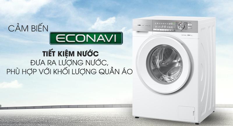 Máy giặt Panasonic Inverter 10 Kg NA-S106G1WV2-Tiết kiệm nước nhờ cảm biến sinh thái Econavi