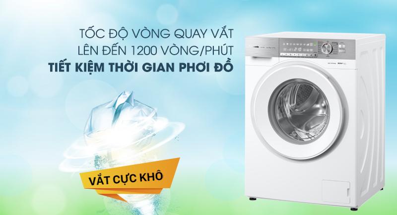 Máy giặt Panasonic Inverter 10 Kg NA-S106G1WV2-Tiết kiệm thời gian phơi đồ nhờ tính năng vắt cực khô